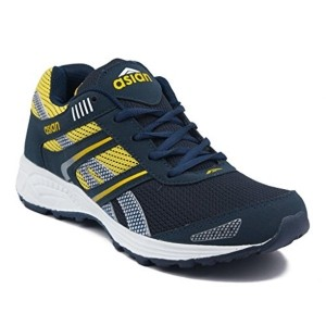 Asian ZOOM 1013 Navy Blue & Yellow Sports Shoes