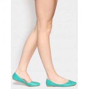 Abof Green Synthetic Slip On Ballerinas