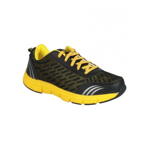 Action Action Bmb-702-Black & Yellow Sports Shoes