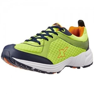 Sparx Green Mesh Lace-up Running Shoes