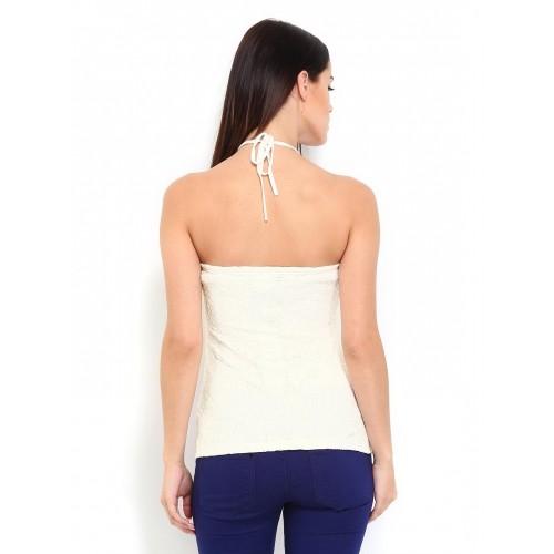 d3a54a01086639 Buy Vero Moda Women Off-White Tube Top online