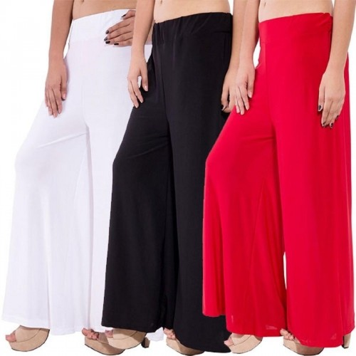 marami Regular Fit Women's White, Black, Red Trousers