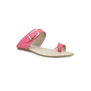 Shezone pink suede slip on sandals