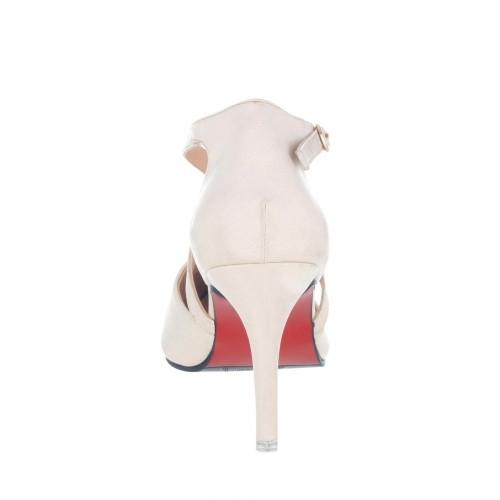 Sherrif Shoes natural synthetic back strap pumps