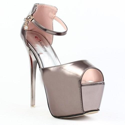 Buy Shuberry Rose Gold 6 Inch Heels Sandal online