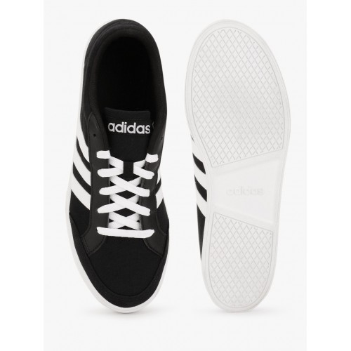 Adidas Vs Set Black Synthetic Lace-Up Sneakers