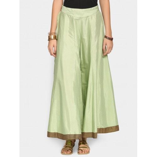 fd2ee4d49f43d3 Buy W Women Light Green Printed Regular Fit Palazzo Pants online ...