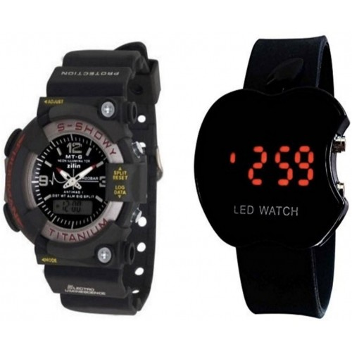 A R Sales 2 Sports Classy Digital Watch  - For Men