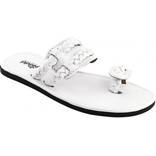 Buy Paduki Men White Sandals online