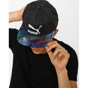Puma Strapback Cap With Printed Visor