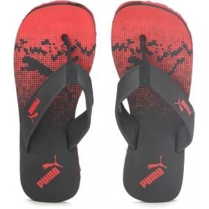 Puma Max IDP Red & Black Printed Slippers
