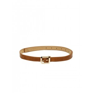 Mast & Harbour Tan And Brown Leather Solid Belt
