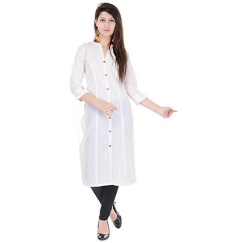 1baf826b17 Buy Mystique India Solid Off White Cotton Women Kurti online ...