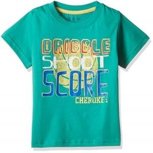 Cherokee Green Printed Boys' T-Shirt