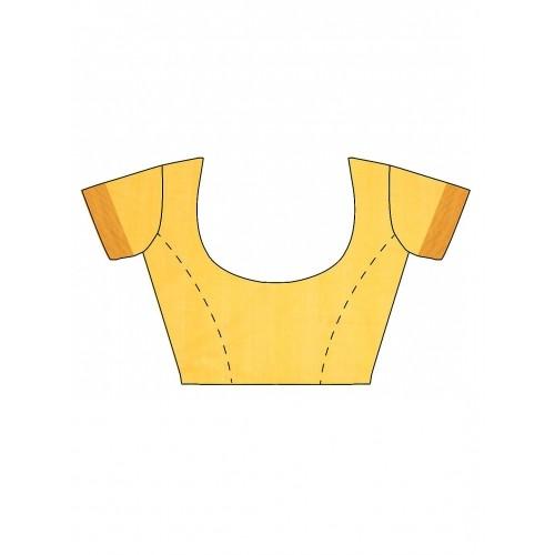 gocoop Yellow Mangalagiri Traditional Saree