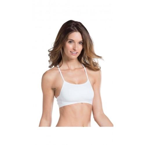 3e854d8e20b11 Buy Jockey White Solid Cotton Lycra Crop Top online