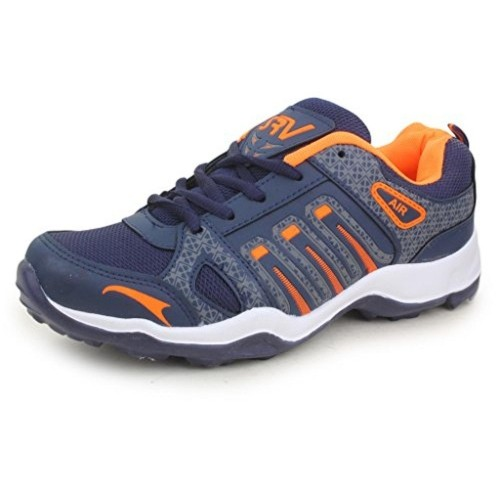 Trase SRV Navy Blue & Orange Bolt Sports Shoes