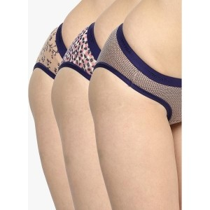 AMANTE Pack Of 3 Assorted Printed Panties