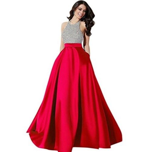 e0e922b075 Muta Fashions Red   Silver Silk Gown  Muta Fashions Red   Silver Silk ...