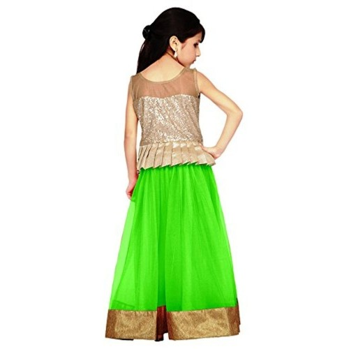 Buy Pakiza Girls Lehenga Choli Kl02 Light Green Green 11 12 Year Online Looksgud In