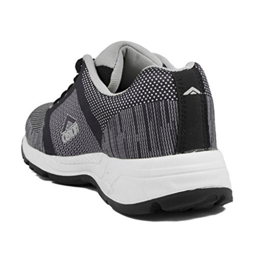 Asian Black & Grey Mesh Lace Up Sports shoes