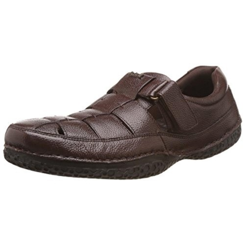 2663fce1f0c3 ... Dr.Scholls Men s Thomas Brown Leather Sandals and Floaters - 6 UK India  ...