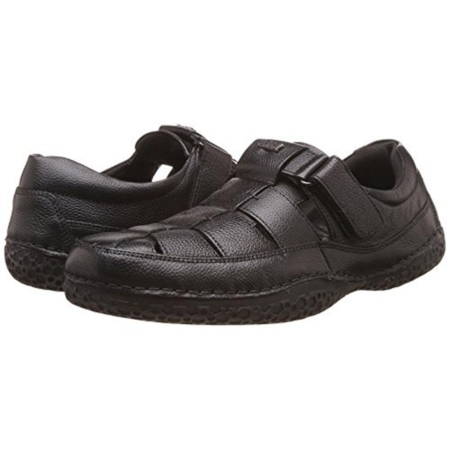 Buy Dr Scholls Men S Thomas Black Leather Sandals And