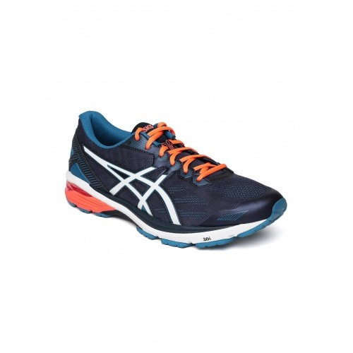 ASICS Navy Blue Mesh Lace Up GT-1000 5 Running Shoes