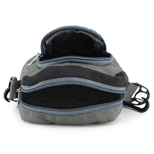 423238eddf MoArmouz® Waist Bag Travel Pocket Sling Chest Shoulder Bag Phone Holder  Running Belt With Separate ...