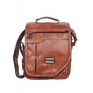 Handcuffs Stylish Side Sling Bag Shoulder Bag Leather Bag 10 Inch For Men's/ Gents