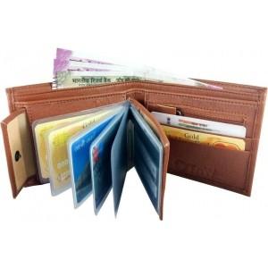 S A Enterprises Tan Artificial Leather Wallet