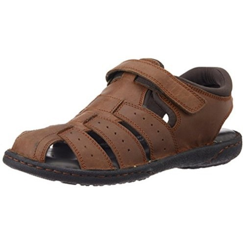 Hush Puppies Brown Men's Fishermen Bounce Leather Floaters