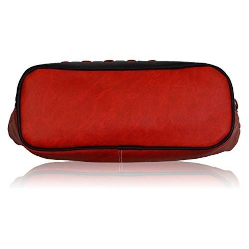 Buy Fantosy Red   Black Polyurethane Handbag(FNB-318) online ... 9ae135c916