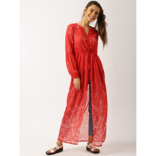 f15b9868b7a Buy DressBerry Women Red Printed Maxi Top online | Looksgud.in