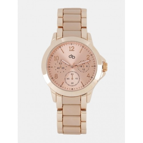 DressBerry Women Rose Gold-Toned Analogue Watch MFB-PN-WTH-S5740-01