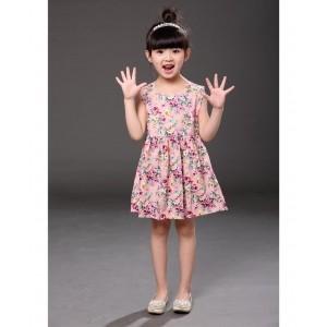 Pre Order - Superfie Rose Printed Summer Dress - Pink