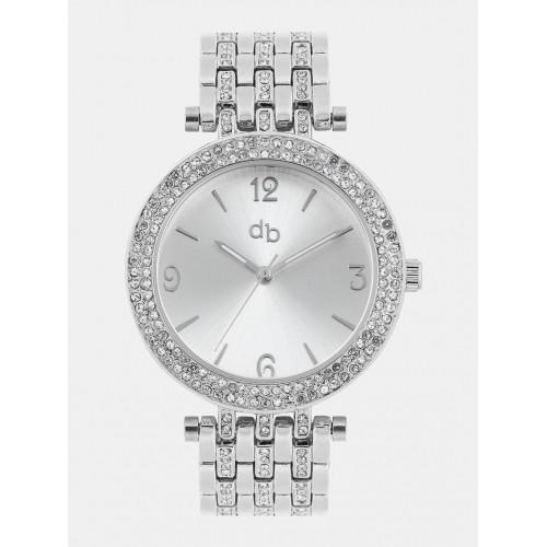 DressBerry Women Silver-Toned Dial Watch MFB-PN-Y-S5771