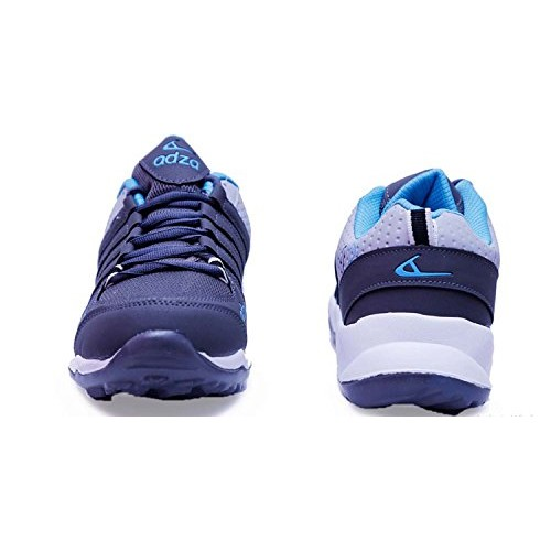 Adza Navy and Grey Lace Up Sport Shoes