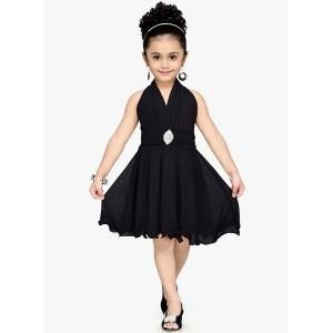 Aarika Black Party Dress