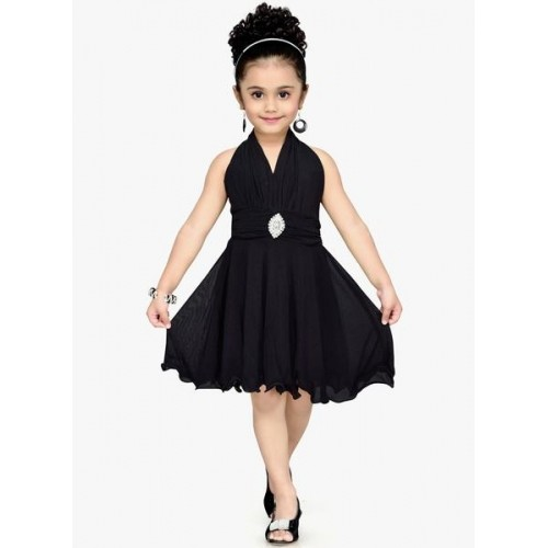 Aarika Black Party Dress