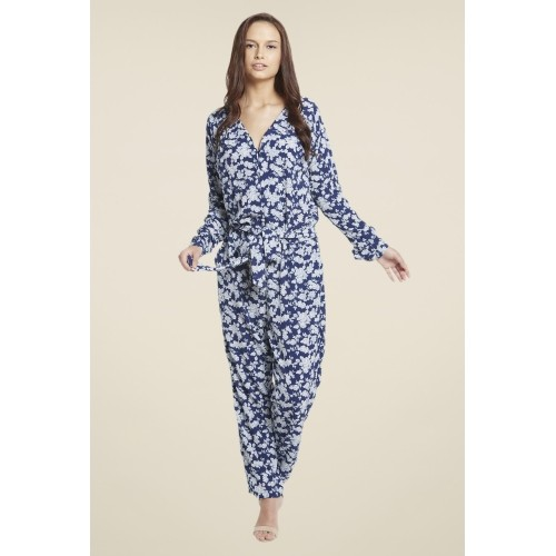 9418e1eb42 Buy Globus Blue   White Polyester Floral Printed Jumpsuit online ...