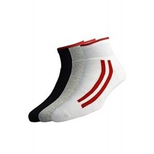 Peter England Men\'s Stripe Socks (Pack Of 3)