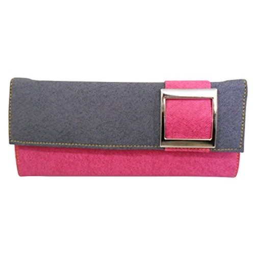 Saugat Traders Pink & Gray Leather Wallet