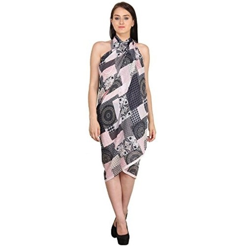 f69d2d241a Buy Indian Fashion Guru Black Printed Beach Wear Sarong & Pareo ...