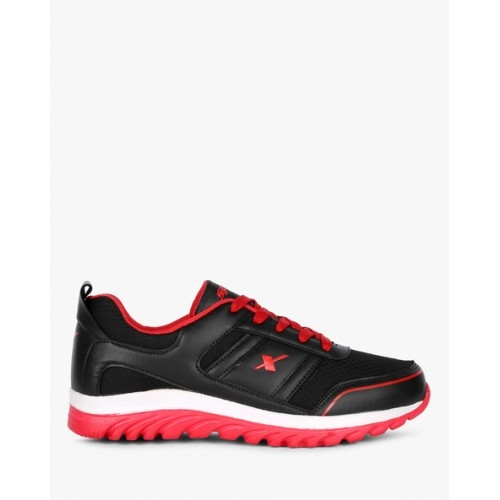 Sparx Black & Red Low Ankle Sports Shoes
