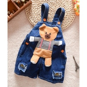 Pre Order - Superfie Big Teddy Patch Dungaree - Blue