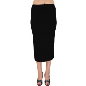 Shyie Solid Women\'s Pencil Black Skirt
