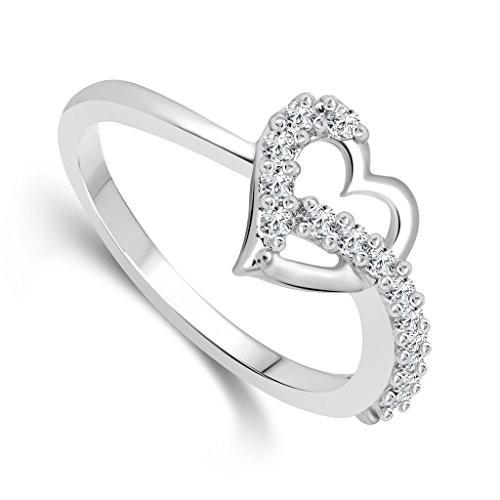 Vighnaharta Silver and Rhodium Plated Ring - [VFJ1076FRR]