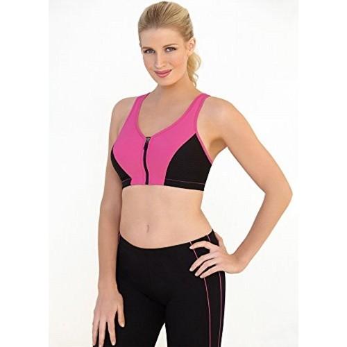 8aaa0609cdb38 ... Glamorise Women s Plus-Size High Impact Magiclift Zippered Sports Bra  ...