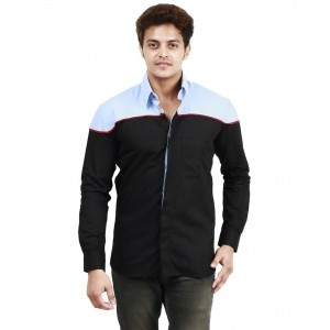 Trendster Black Cotton Casual Shirt